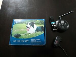 Wireless Dog hidden fence/rechargeable collar includes extra collar