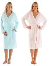 Ladies Soft Jersey Kimono Wrap Cotton Dressing Gown Summer Bath Robe