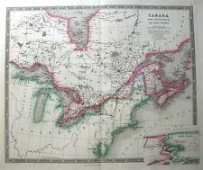 More details for canada,new brunswick & nova scotia,niagara river, teesdales  antique map 1841