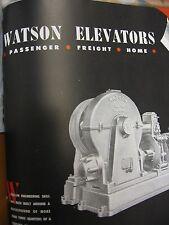 Watson Elevator 1947 Catalog Asbestos Brake Shoes