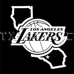 LA LAKERS STICKER LOS ANGELES CALIFORNIA  VINYL DECAL CUSTOM BASKETBALL