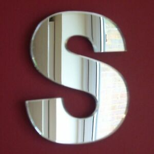 Contemporary Letter S Acrylic Mirror (Several Sizes Available)