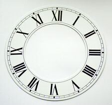 Orologio Bianco capitolo Anello Numeri Romani Quadrante in alluminio NUOVO 152mm 90mm OROLOGI