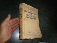 les Traditions et Doctrines Esotériques H.M de Campigny 1941 Librairie Astra