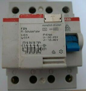 ABB F374 FI-Schutzschalter 40A 0,3A 4-polig