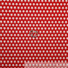 BonEful Fabric FQ Cotton Quilt Red White American STAR Stripe Little Small Baby