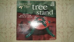 HolidayTime Metal Christmas live Tree Stand Red Green NEW