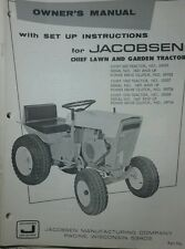 Jacobsen Chief Lawn & Garden Tractor Owners Manual 40pg 800 1000 1200 (FORD 120)