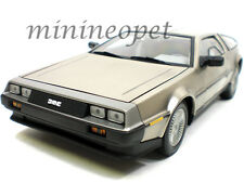 SUN STAR 2701 198 181 DMC DELOREAN 12 1/18 DIECAST STAINLESS STEEL FINISH SILVER