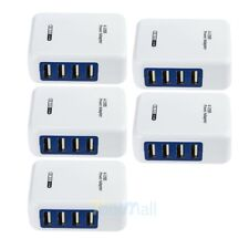 Lot 5X 3.1A 4Port Usb Portable Home Travel Wall Charger Us Plug Ac Power Adapter