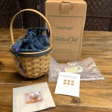 Longaberger Collector's Club Renewal Basket Edition 2004 w/Box/Liner/Prot/New