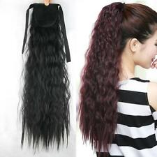 55cm Curly Hair Ponytail Clip In Hairpiece Tie on Tail Synthetic Hair Extensions