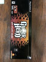 Guitar Hero 1 Red Octane PS2 PlayStation 2 Wired Controller With Box and Game