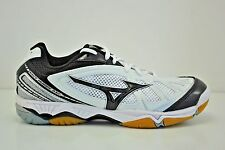 Womens Mizuno Wave Hurricane Volleyball Shoes Size 11 White Black 430190.0090