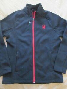SPYDER Men's Constant Full Zip Black Sweater Jacket Size L