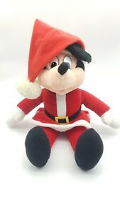 "Big 16"" SANTA CLAUS Mickey Mouse Christmas Plush Stuffed TOY Soft Disney Holiday"