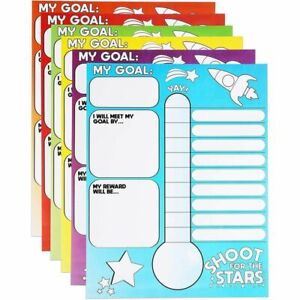 Goal Thermometer Trackers for Classrooms, 6 Pack (17 x 22 In)