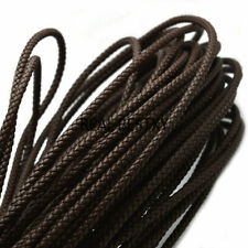 3x3 mm Braided Faux Leather Cords 3 meters jewellery making Neon Green
