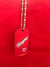 Dog Tag Personalized Name Plate Custom Name Necklace Chain Free Engraved Pendant