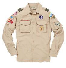 Khaki Tan Boy Scout Uniform Top Arrow Of Light Webelos Small 8 LS & 3/4 Lengths