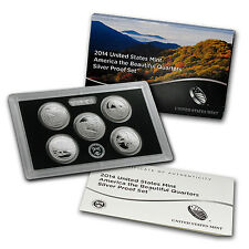 2014 America the Beautiful Quarters Silver Proof Set - SKU #84312
