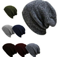 US Men Women Unisex Knit Baggy Beanie Winter Hat Ski Slouchy Chic Knitted Cap