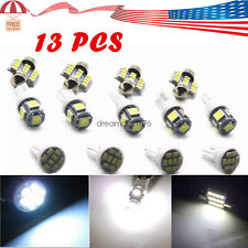 Pure White Led Lights Interior Package Kit for Dome License Plate Lamp Bulbs New