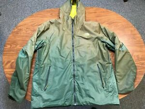 MENS USED THE NORTH FACE HYVENT GREEN FULL ZUP HOODED CHAMELEON JACKET SIZE XL