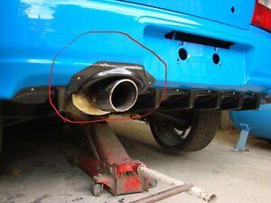 01-02 exhaust bumper trim, Carbon Effect ABS. Fits Subaru Impreza. HT Autos UK