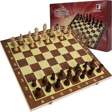 Wooden Chess Set Board Game for Adults & Kids Best Travel Home Chess Board Game