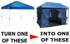 """Turn """"YOUR"""" pop-up Canopy into a 100Sq.ft STANDING ROOM TENT"""