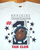 Dallas Cowboys T Shirt Vintage 90s #1 Fan Club NFL Football Aikman Emmitt XL