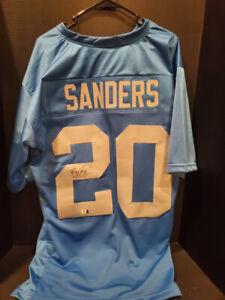 Barry Sanders autographed Detroit Lions Signed Old School Lt Blue Jersey w/ COA