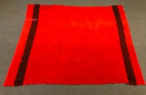 VTG UNBRANDED WOOL 4 POINT RED AND BLACK BLANKET POSSIBLY HUDSON BAY 83 X 65 EUC