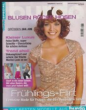 BURDA SPECIAL Blouses jupes pantalons F/S 2005 e834 avec motifs de coupe Taille 34-46