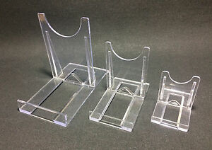 USED Display Stand Clear Twist Plastic Plate Card Slice Dvd 3 Sizes (1 to 8 No.)