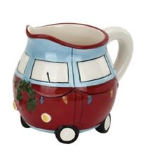 Christmas Ceramic Van Small Milk Pitcher Planter / Candy Jar