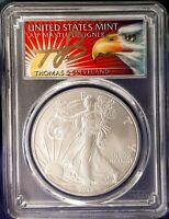 2012 (S) $1 American Silver Eagle 1oz  PCGS MS70 Thomas Cleveland Eagle 1 of 50