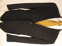 Joseph Abboud Mens Black 3 Btn S110s Suit 42L USA Made