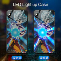Dragon Ball Z LED Light-up Goku Phone Case Cover for iPhone 12 Pro Max 7 8 XR 11