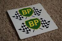 BP 89 Shield Flags Racing Car Petrol Gas Fuel Garage Pump Decals Stickers 50mm