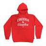 Crooks & Castles OG Timeless Logo Hoodie Red Sweatshirt Mens
