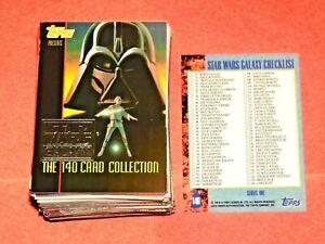 1993 STAR WARS GALAXY SERIES 1 TOPPS SILVER FOIL PARALLEL TIN 140 CARD SET YODA!