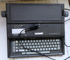EXTRA SUPER RARE Russian-English Olivetti ET Personal 510-II Typewriter Working