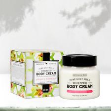 Beekman 1802 Apricot & Honey Tea Pure Goat Milk Whipped Body Cream 8 oz Lg Jar