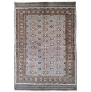5x8 Hand Knotted Wool & Silk Jaldar Bokhara brown Rug B-75673