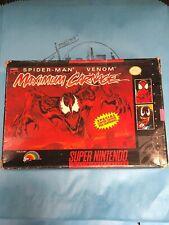 Super Nintendo SNES Maximum Carnage CIB