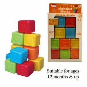 Educational Alphabet Blocks Lower-Case Letters 12m+ plastic building toy UK