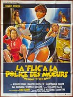 Plakat Erotik La Flic A La Police Des Manieren Edwige Fenech 120x160cm