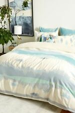 Last One Anthropologie 💙 Woven Calera 💙 king duvet cover Blue Nwt actual pic!